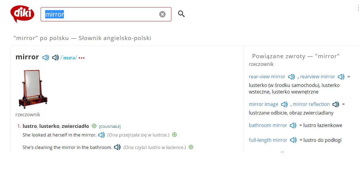 Blog o nauce angielskiego - Nauka angielskiego online - Słownik internetowy Diki