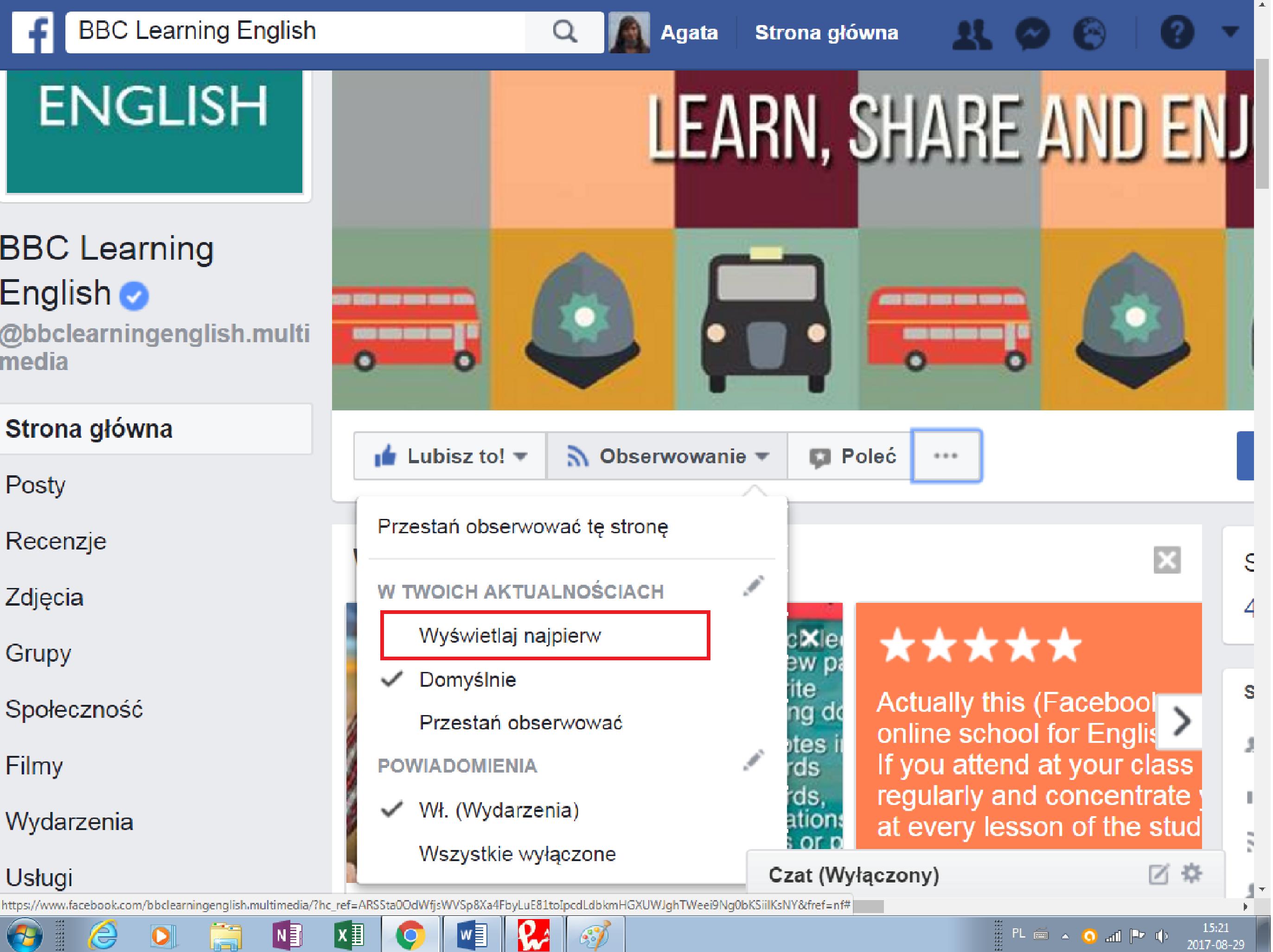 Blog językowy - samodzielna nauka angielskiego z facebookiem - ulubiony fanpage