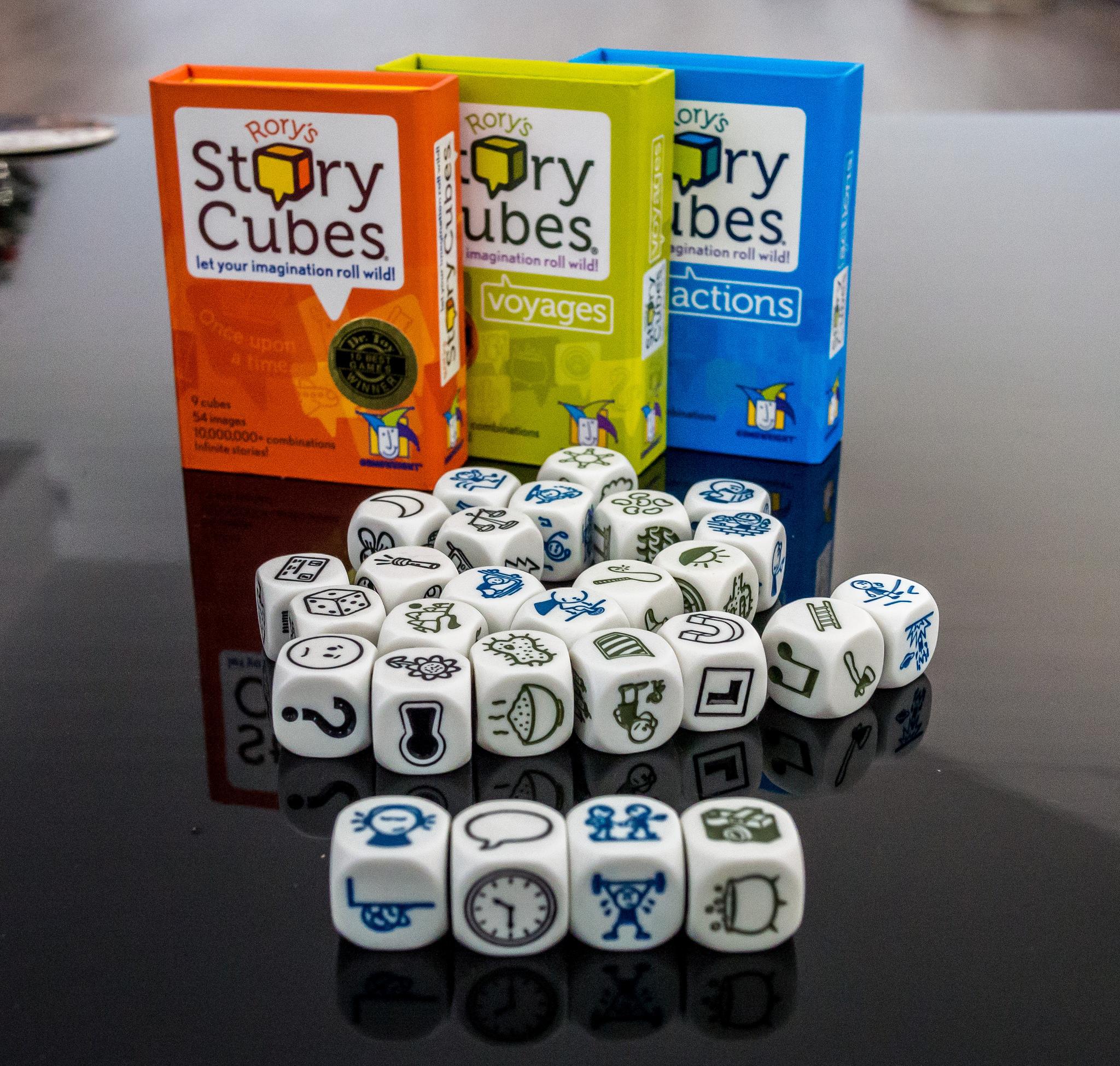 Blog o nauce języka angielskiego - Prezenty związane z językiem angielskim - Story cubes